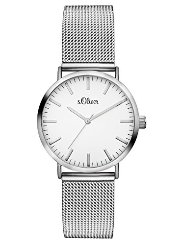 S.Oliver Women's Analogue Quartz Watch with Stainless Steel Bracelet – SO-3270-MQ