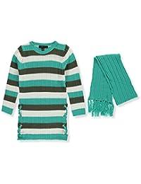 Derek Heart Big Girls' Sweater Dress with Scarf