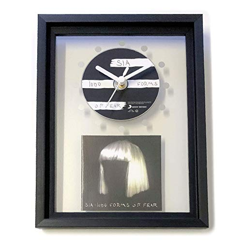 SIA - 1000 Forms Of Fear: FRAMED CD ART CLOCK/Exclusive Design
