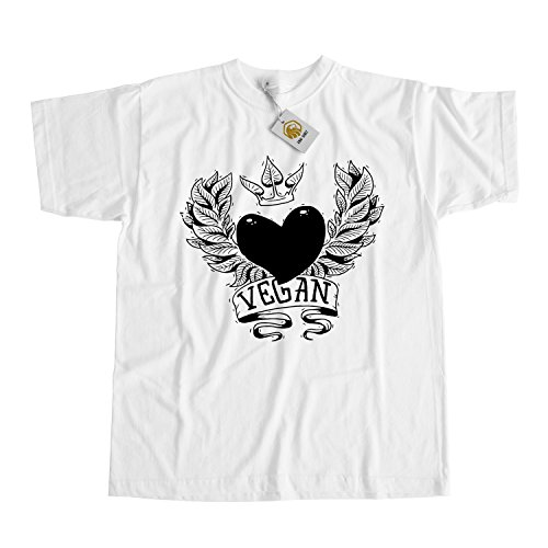 Vegan Love with Leaves Crown T-shirt for proud Vegan, Unique Vegan Lifestyle Shirt