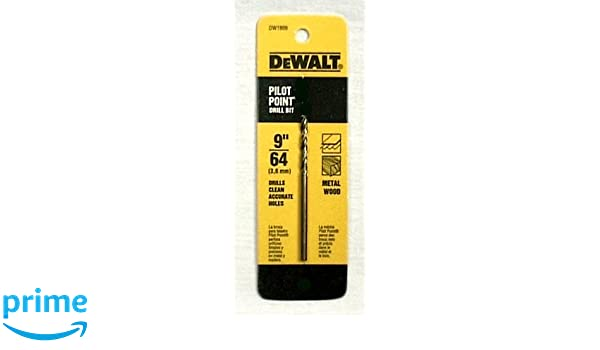 """DEWALT DW1909 9//64/"""" SPLINT POINT DRILL BIT"""