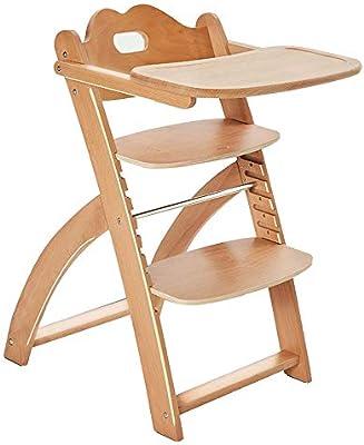 high chair Trona para niños, Silla de Escalera de Madera ...