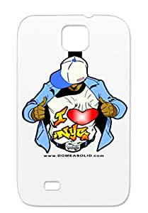 Solid NYC Heart Beat Graffiti Art Design My Beats For The Big Apple. White Case Cover For Sumsang Galaxy S4