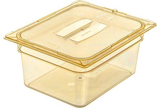 Carlisle 10422B13 High Heat One-Half Size Food Pan, 8.7-quart Capacity, 6'' x 10.38'' x 12.75'', Amber (Case of 6) by Carlisle (Image #5)