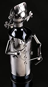Clever Creations Metal Wine Bottle Holder