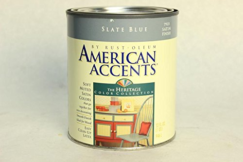 1Qt Slate Blue Interior Paint, Ideal for Wood American Accen