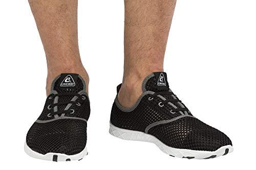 Cressi 1946 Aqua Shoes Zapatos Deportivo para Uso Acuático, Negro/Gris, 47