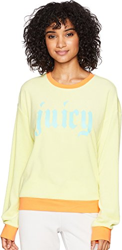 - Juicy Couture Women's Pullover Sweatshirt w/Gothic Juicy Logo Sunny Lime Medium
