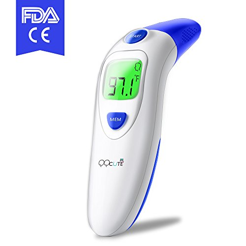 Digital Infrared Baby Forehead Thermometer with Ear Function More Accurate Medical Fever Body Basal Thermometers Suitable for Infant Kid Adult - FDA and CE Approved UnDQG082