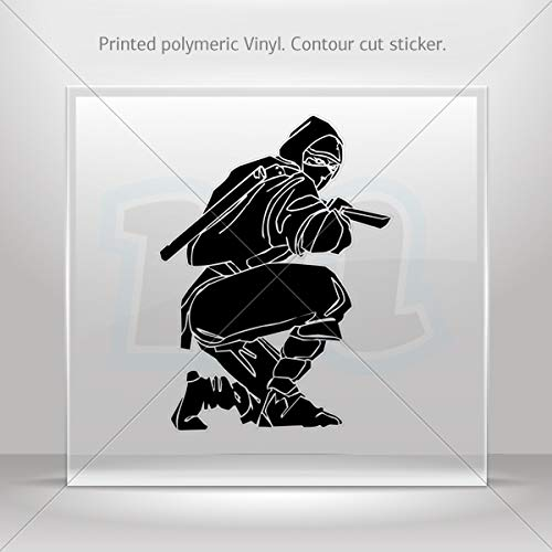 Amazon.com: Sticker Ninja Warrior Fighting Motorbike Vehicle ...