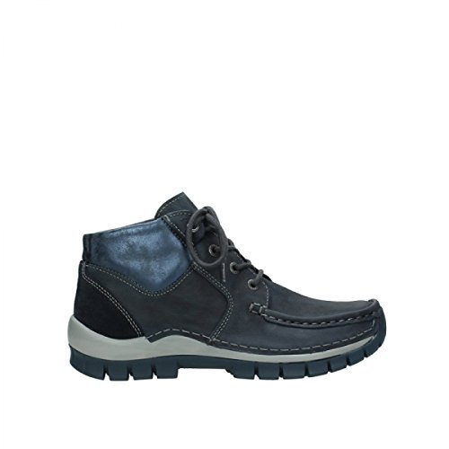 Nubuck Lacets Cross Seamy Up Bleu 19800 À Chaussures Wolky Comfort vS88B