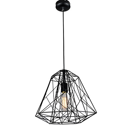 Black Wrought Iron Pendant Light in Florida - 6