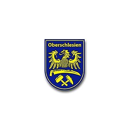 Copytec Aufklebersticker Oberschlesien Schlesien Polen Adler Sense Hammer Schlegel Wappen Abzeichen Emblem Passend Für Opel Astra Audi A6 Vw Passat