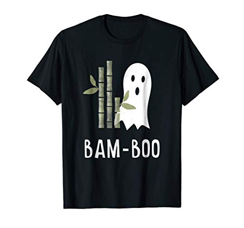 Funny Bamboo Halloween Costume Asian Boo Ghost Pun T-Shirt