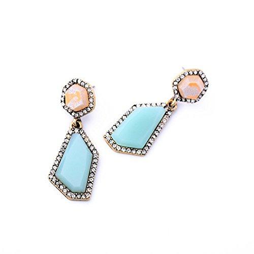 J.MOSUYA Women 925 Sterling Silver Pendant Necklace Rainbow Mystic Topaz Jewellery Multi Color Rhombus DzsUNPK