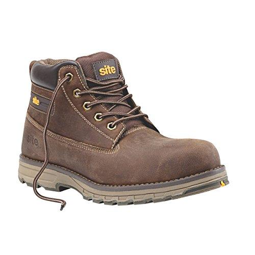 Sitio aplita botas de seguridad marrón tamaño 10