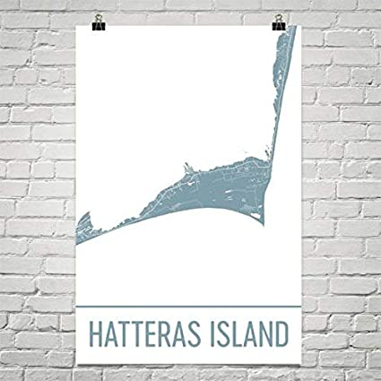 Amazon Com Modern Map Art Cape Hatteras Map Cape Hatteras Art