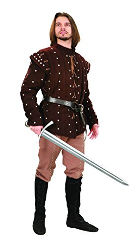 Museum Replicas Robin of Locksley Men's Brown 2 Piece Medieval Gambeson Removeble Sleeves (Large/X Large) (Robin Of Sherwood The Knights Of The Apocalypse)