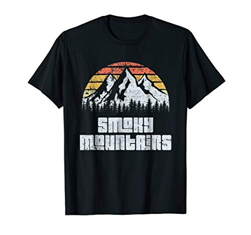 - Great Smoky Mountains Tennessee Vintage Retro T-shirt