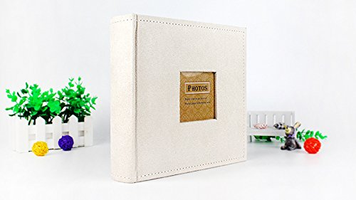 Great Circle Photo Albums Velvet cover 4R/6 inch paper core insert album (white) by Great Circle (Image #5)