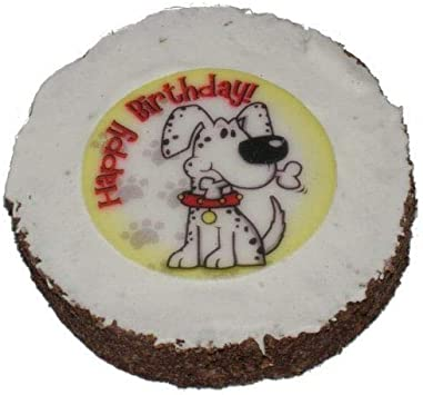Admirable Dog Birthday Cake Hatchwells Dog Gift Present Treat 4In Dia X 3 Personalised Birthday Cards Paralily Jamesorg