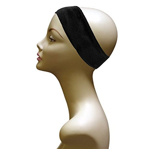 Black Wig And Scarf Grip Comfort Band - Comfort Grip Wig Band In Black