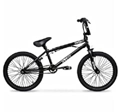 "The 20"" Hyper Spinner Pro BMX Bike features alloy platform BMX pedals for pulling off the most awesome tricks and micro-drive front and rear sprockets for a smooth ride, even off-road. This Micro Drive BMX bike has a rotor up front for 360-de..."