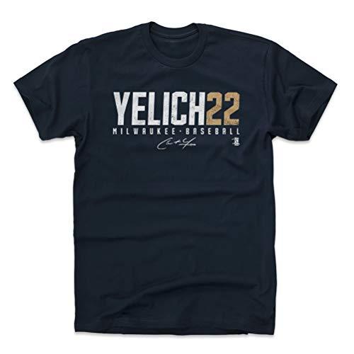 500 LEVEL Christian Yelich Cotton Shirt XXX-Large True Navy - Milwaukee Baseball Men's Apparel - Christian Yelich Yelich22 W WHT