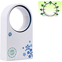 """Table Desktop Bladeless Mini Fan, USB & Battery Powered Handheld Water Cooling Conditioner Fan, Baby Safe Personal Fan, for Home,School,Office,Hiking,Camping,Backpacking,6.8""""x3.8""""x1.7"""""""