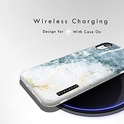 Design 102525-US Akna GripTight Series High Impact Silicon Cover with Ultra Full HD Graphics for iPhone XR iPhone XR Case Marble