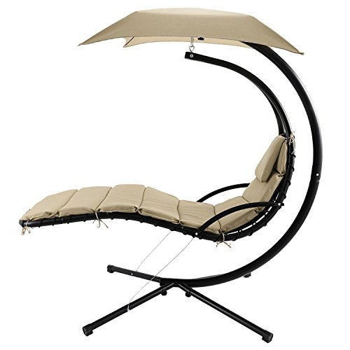 Cheap Kaluo Hanging Chaise Lounge Chair Modern Design Swing Hammock Canopy Yard Garden