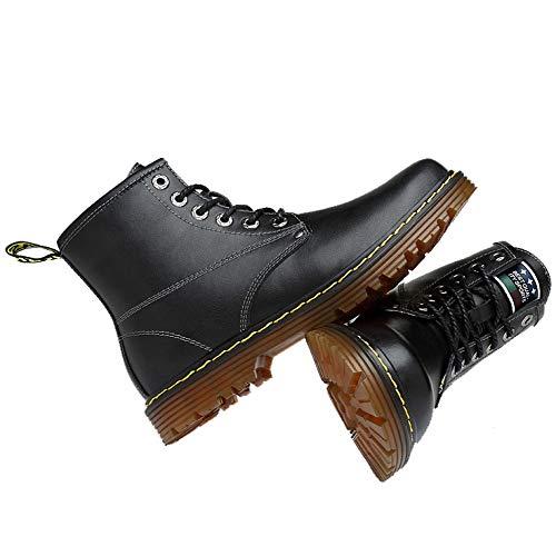 Chelsea Rotonda Black Punta Sicurezza Uomo per Lavoro da Mens Soles Boots Stivaletti di Stivali Boots Martin Air Industriale Calzature pwTSqYT