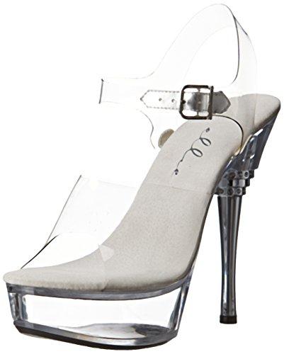 Ellie Shoes Women's 678 Brook Platform Sandal - Clear - 7...
