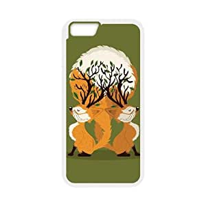 iPhone 6 Plus 5.5 Inch Cell Phone Case White Fox Tree JNR2022871