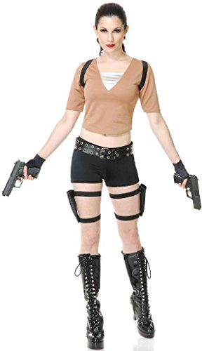 Tomb Fighter Costume - X-Small - Dress Size 3-5