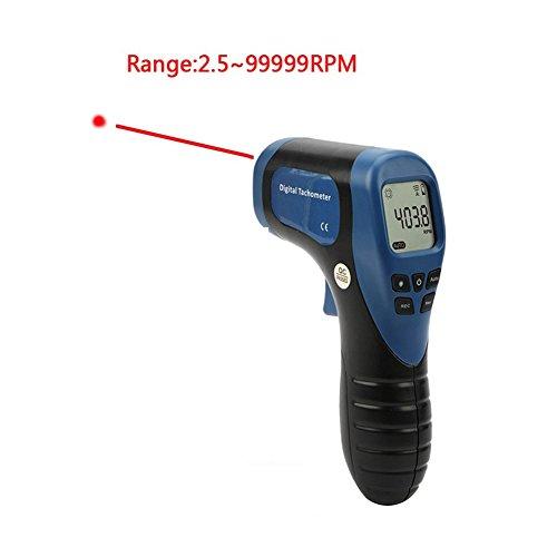 STARRICH Digital LCD Laser Photo Tachometer Non-Contact Handheld RPM Meter Motor Speed Gauge Gun Style Surface Speed Tach Meter (Speed Tach)