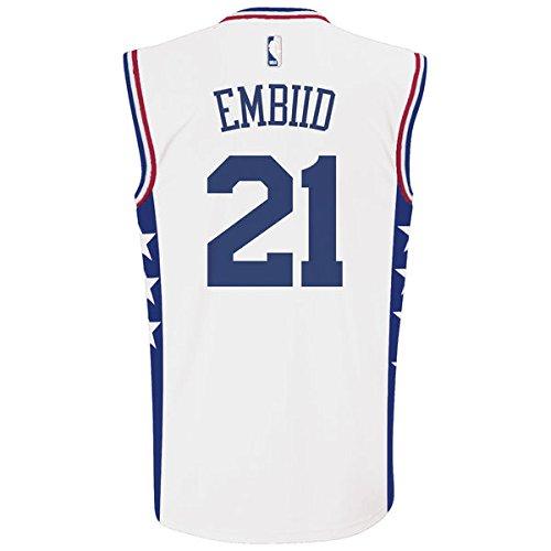 Nba Home Replica Jersey (NBA Philadelphia 76ers Embiid J # 21 Boys 8-20 Replica Home Jersey, X-Large (18/20), Team Color)