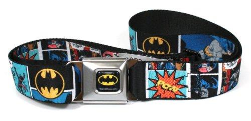 Batman Comic Strip Logo Seatbelt Belt - Cheap Seat Buckle Belts