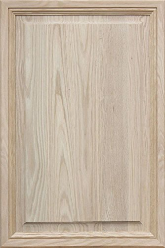 Unfinished Oak, Mitered Raised Panel Cabinet Door by Kendor, 36H x 24W - Oak Raised Panel