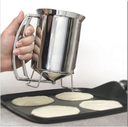 New Pancake/Batter Dispenser Stainless Steel Perfect Pancakes - Cupcakes - Waffles - Crepes - & More (Funnel Cake Batter Dispenser compare prices)