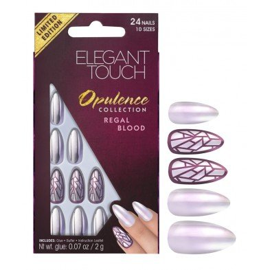 Elegant Touch False Nails - Opulence Collection - Regal Blood (Adhesive Included)