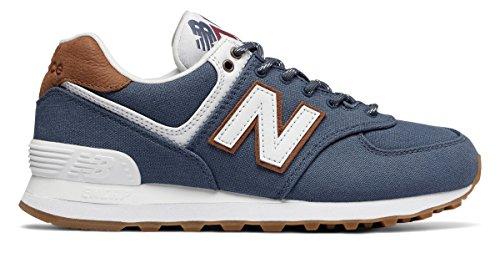 (ニューバランス) New Balance 靴?シューズ レディースライフスタイル 574 Vintage Indigo インディゴ US 8.5 (25.5cm)