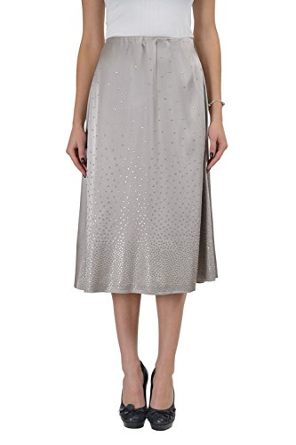 Martin Margiela 1 Gray Beads Decorated Women's A-Line Skirt US M IT 42