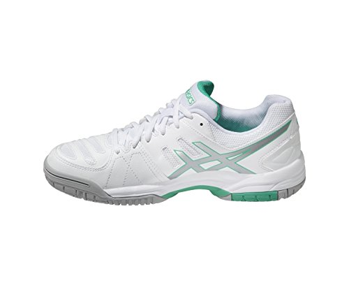 4 Weiß Outdoor Damen Gel Dedicate Asics Fitnessschuhe qwpRZETFx