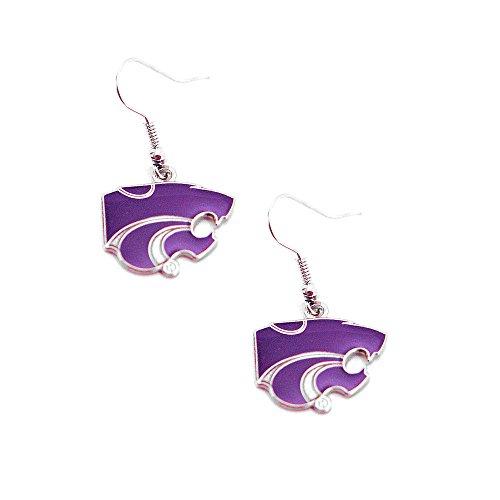 Kansas State Wildcats NCAA Team Dangle Earrings