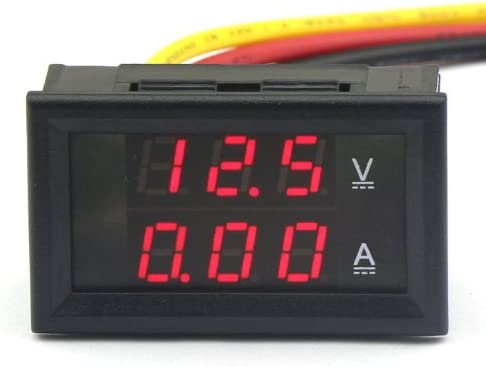 Drok 3 Wires Dc Voltmeter Ammeter 4 5 30v 2a 12v Volt Amp Monitor Voltage Current Tester 2in1 Red Led Display Ampere Gauge Voltage Testers Amazon Com Industrial Scientific