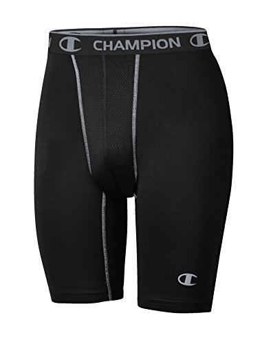 Champion Gear Men`s Power Flex Compression Shorts, 80197T, XL, Black/Concrete