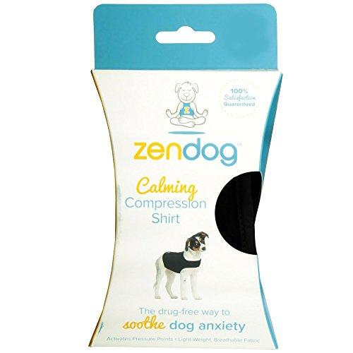 Contech ZenDog Calming Compression Dog Shirt, Medium, Black