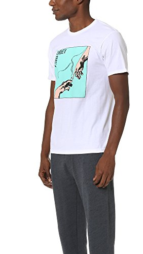 Obey, Uomo, Spark Of Life Premium SS Tee, Cotone, T-Shirt, Bianco
