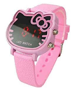 2013 Hot New Products Fashion Hello Kitty LED Digital Pink Watch For Children/Women